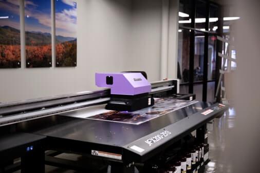 Mimaki JFX200-2513 UV Wide Format Printer in Action