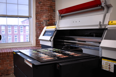 Mimaki UJF-3042FX Series Tabletop Flatbed Printer On Display